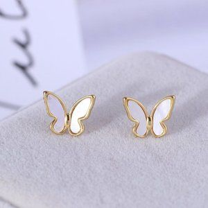 Kate Spade White Butterfly Earrings